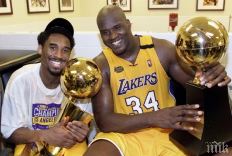 """ЗВЕЗДЕН СПОР: Баскетболните легенди Коби и Шак си размениха """"любезности"""""""