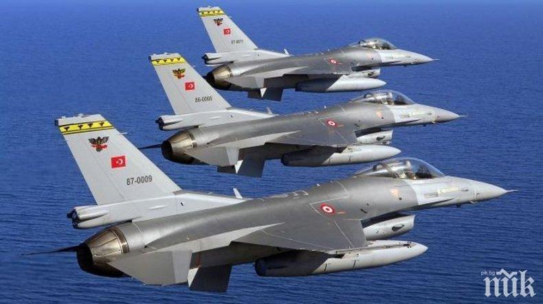 САМО ЗА ДЕН: Турски изтребители влетели 56 пъти в Гърция