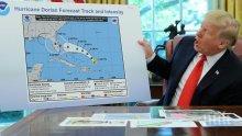 """Президентът на САЩ отмени посещение на пострадалите от урагана """"Дориан"""" райони"""