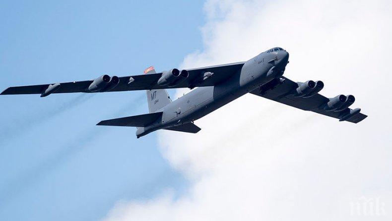 ДРЪНКАНЕ НА ОРЪЖИЯ: САЩ разположиха бомбардировачи B-52 в Европа