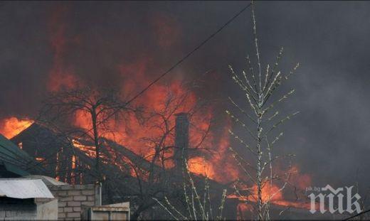 Баба гори треви, запали съседски имот