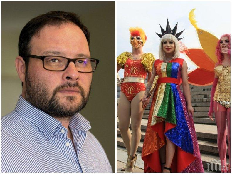 """САМО В ПИК! Десислав Чуколов с горещ коментар за забраната на гей парада и """"Марш за законност"""" в София: Това е сборище и извращение и трябва да се покаже, че хората искат нормалност и традиционно семейство"""