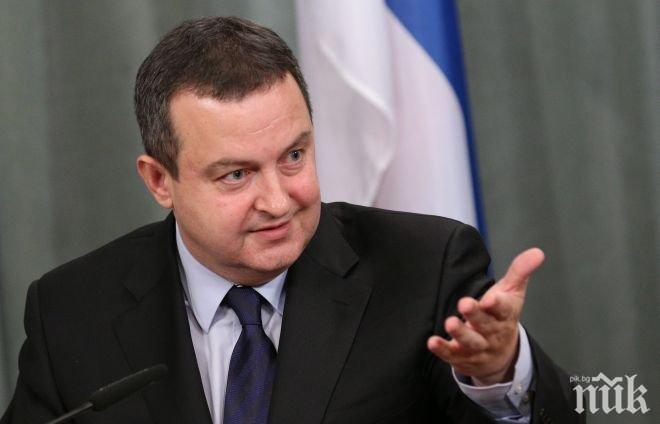 Дачич готов да подаде оставка, ако Косово влезе в Интерпол