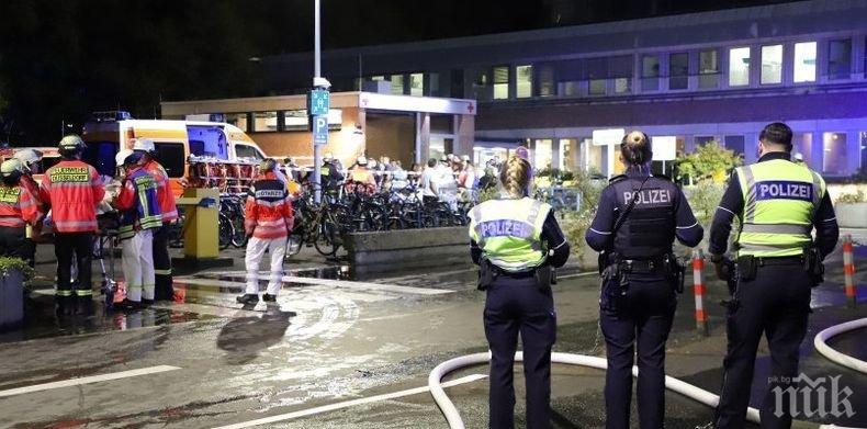 Един загинал и десетки пострадали при пожар в болница в Дюселдорф