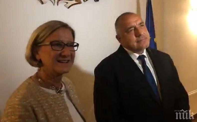 Борисов отчете пред Йоханна Микл-Лайтнер: България е държава с нула мигранти (ВИДЕО)