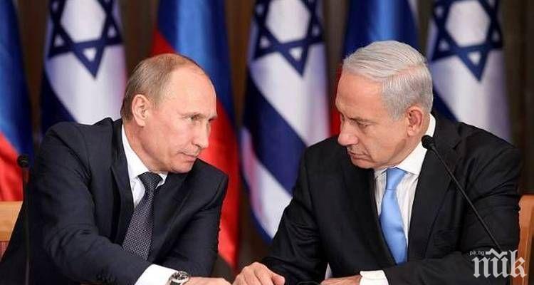 Премиерът на Израел заяви, че много цени дружбата си с Владимир Путин