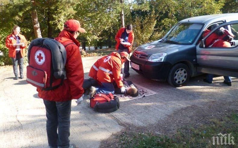 ПОКАЗНО: БЧК с демонстрация за спасяване на пострадали след бедствия