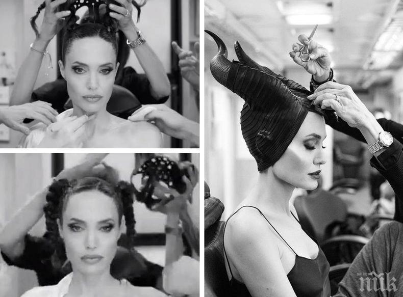 """Хит в мрежата: """"Дисни"""" показа превръщането на Анджелина Джоли в Злодеида на снимките на """"Господарка на злото 2"""" (ВИДЕО)"""