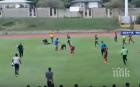Мълния удари четирима футболисти на мач (ВИДЕО)
