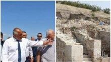 Борисов инспектира разкопките в Хераклея Синтика (ОБНОВЕНА)