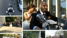Нестандартно: Пловдивчани разчупиха традициите с рокерска сватба