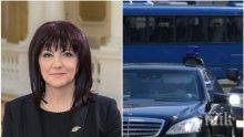 ЕКСКЛУЗИВНО: Първи СНИМКИ от тежката катастрофа с кортежа на Цвета Караянчева