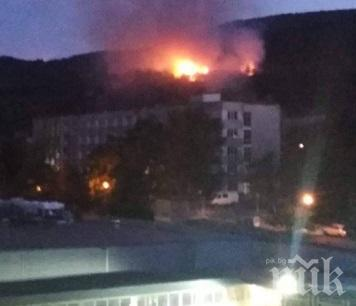 Пожар избухна до училище и детска градина в Асеновград