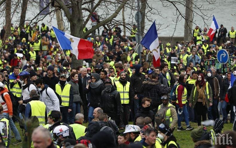 """Масови безредици на протест на """"жълтите жилетки"""" в Нант"""