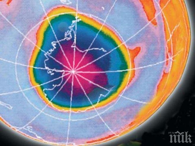 Озоновата дупка над Антарктика се сви рекордно