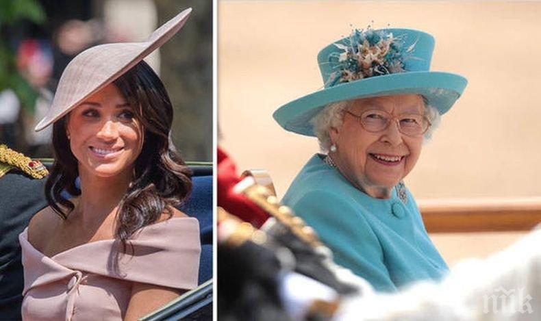 КРАЛСКИ СКАНДАЛИ: Меган и Хари станаха тема табу за Елизабет Втора - няма да повярвате какво е ядосало кралицата