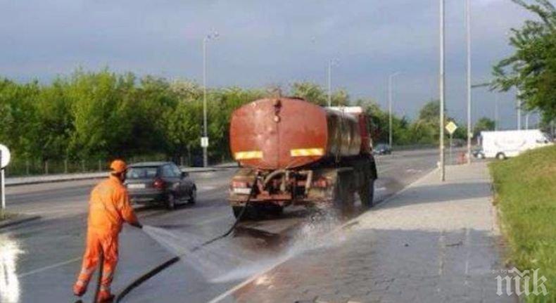 ВАЖНО: Промени в движението в столицата във връзка с измиване на пътното платно на Околовръстното
