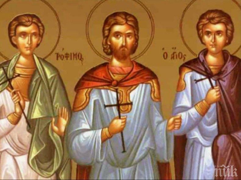 СИЛНА ВЯРА: Побеснели езичници мъчили жестоко тези трима светии, а след това...