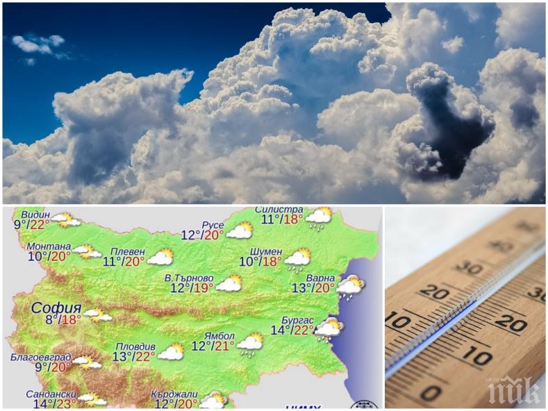 ПРЕДПРАЗНИЧНО: Хубавото време се завръща - валежите спират по поръчка за почивните дни (КАРТА)