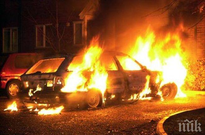 Подпалиха колата на строителен бос в Кърджали