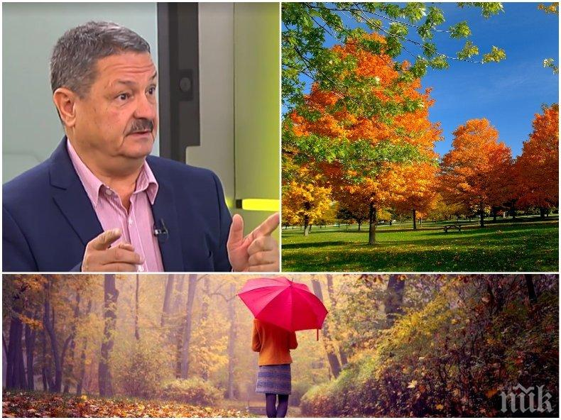 ТОЧНАТА ПРОГНОЗА: Климатологът проф. Георги Рачев - каква есен ни очаква и ще бъде ли топло през октомври