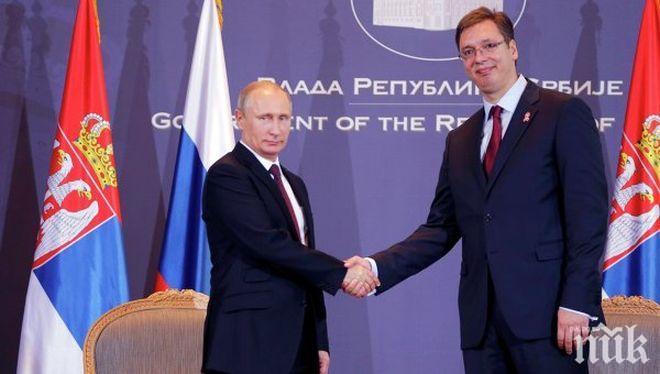 Вучич с топли думи към Лавров: Русия е приятел и съюзник на Сърбия