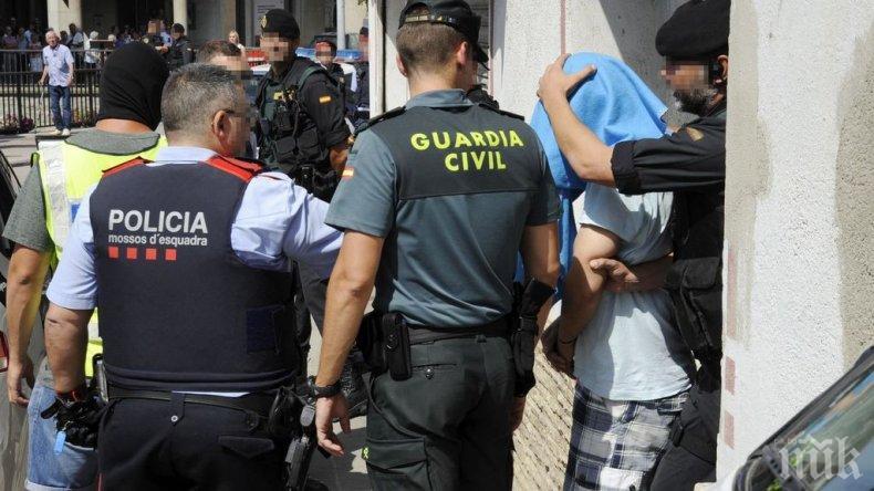 Арестуваха каталунски сепаратисти, планирали атентати в Испания