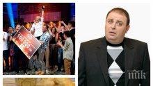 """БИТКА ЗА 100 БОНА: Любо Нейков върти черпака в """"Мастър шеф"""" - комикът разкрива таланта си в кухнята в кулинарното шоу"""