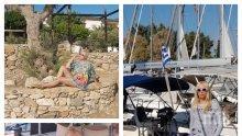 ГОРЕЩО В ПИК: 59-годишната Кристина Димитрова се пусна по дупе от гръцка яхта - двама ратаи слугуват на певицата (СНИМКИ)