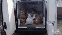 """Задържаха четирима от """"Шекера"""" с 200 кг нелегален тютюн"""