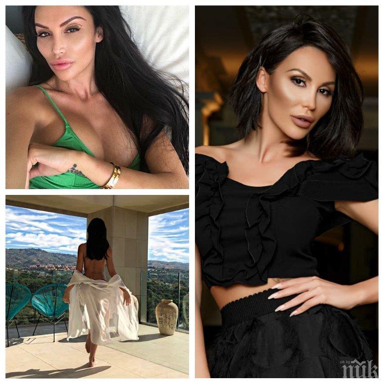 ОТ МНОГО СИЛИКОН СЕ ИЗТРЕЩЯВА: Моника Валериева сцепи мрака - скандалната моделка станала мюсюлманка