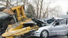 КЪРВАВ ИНЦИДЕНТ В ДУПНИЦА: Кола се заби в багер, шофьорът загина