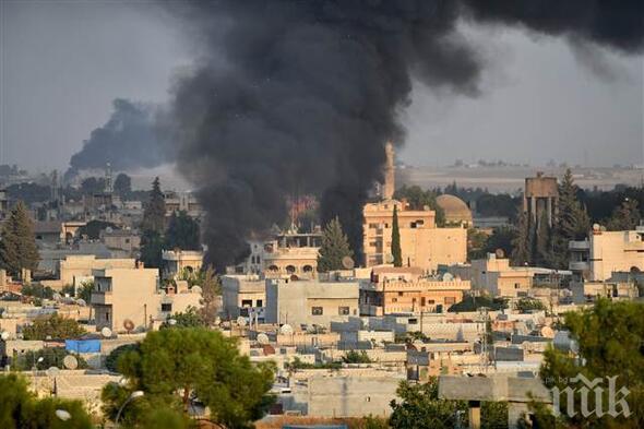 Сирийски кюрди са подпалили няколко петролни кули в провинция Хасака