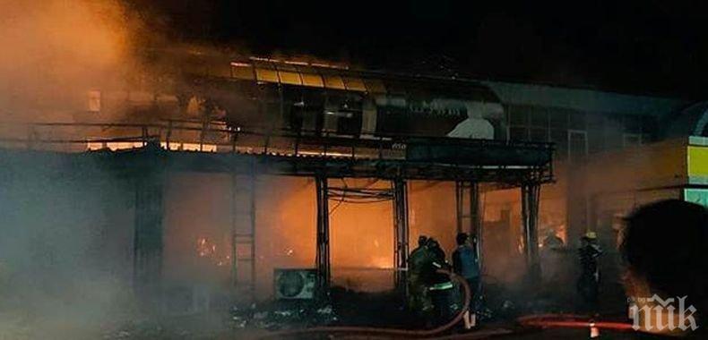Трима пострадали при пожара в търговския център в Баку (ВИДЕО)
