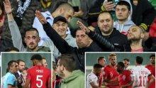 """След скандала на """"Васил Левски"""": Английска телевизия показа нацистките символи и обидите към футболистите"""