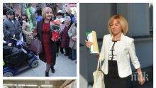 """Мая Манолова в """"Шанел"""" и """"Луи Вютон"""" на срещи с инвалиди и бедни. Кипри се сред народа с чанти по 1500 евро (СКАНДАЛНИ СНИМКИ)</p><p>"""