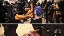 Полицията в Барселона използва сила срещу участници в протестите. Има пострадали