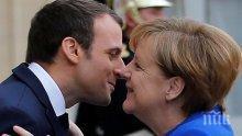 Преговори: Меркел лобира за Македония пред Макрон