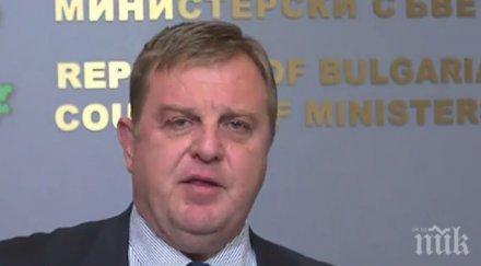Каракачанов официално: Служители на Министерство на отбраната не са замесени в хаоса в Сливенско