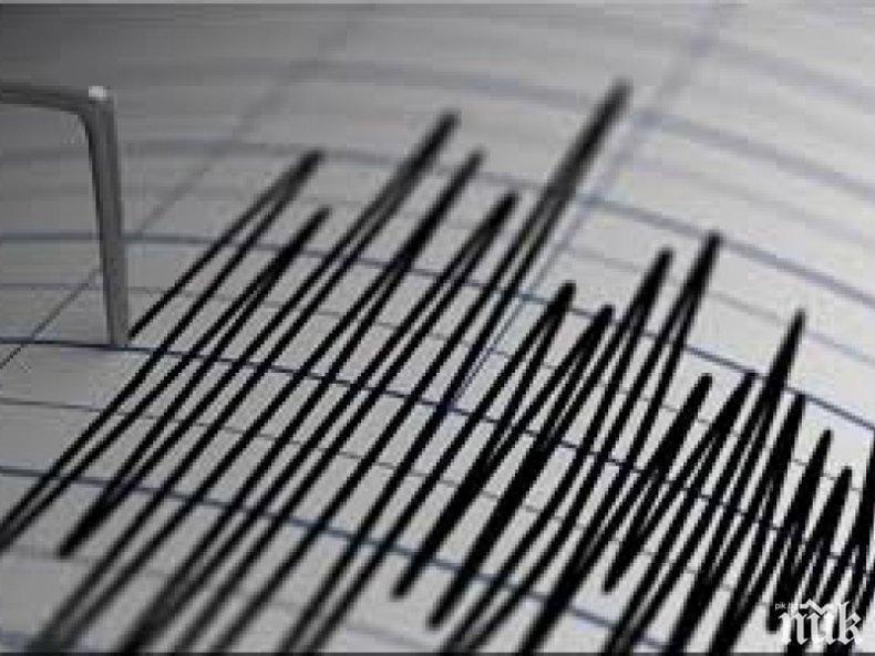 Земетресение с магнитуд 5.4 по Рихтер е било регистрирано край Курилите