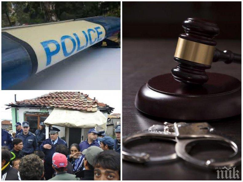 СКАНДАЛНО: Циганин плюе и рита полицаи, получи пробация