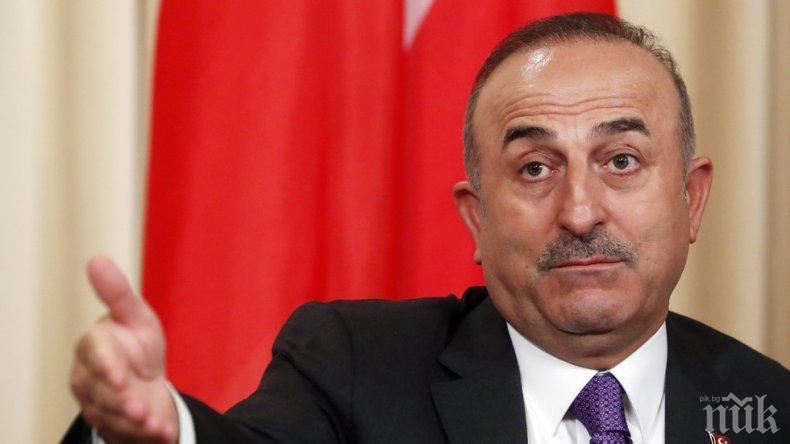 Външният министър на Турция: Франция и други страни искат терористична държава в Сирия