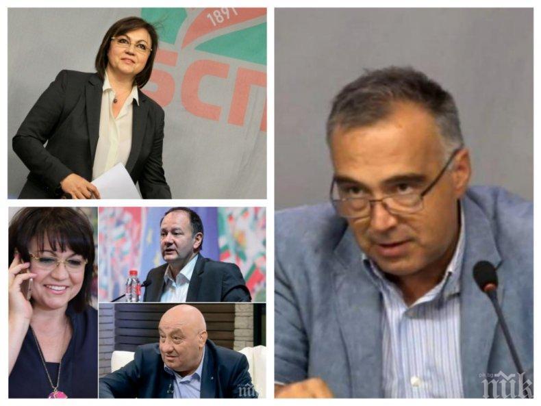 СТРАХ В ЧЕРВЕНО: БСП се сниши - не вярва в победа с кандидатите на Нинова. Опозицията вътре дебне от засада разгромния провал