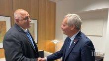 ПЪРВО В ПИК: Премиерът Борисов се срещна с финландския си колега Анти Рине