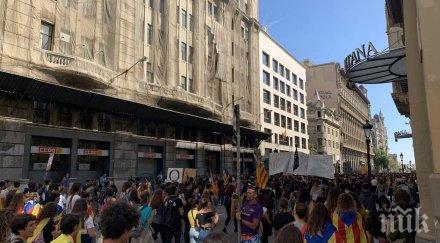 19 са арестувани по време на протеста в Каталуния