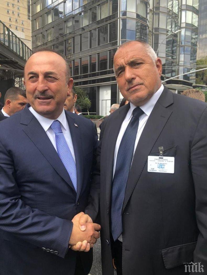 Чавушоглу благодарен на Борисов за подкрепата