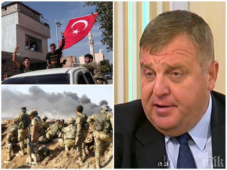 ГОРЕЩА ТЕМА! Красимир Каракачанов с експресен коментар има ли опасност за България от конфликта в Сирия, ще пусне ли Ердоган милионите бежанци към Европа