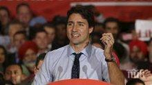 Партията на премиера Джъстин Трюдо води на парламентарните избори в Канада