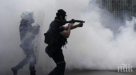 боливия полицията използва сълзотворен газ протестиращи президентските избори