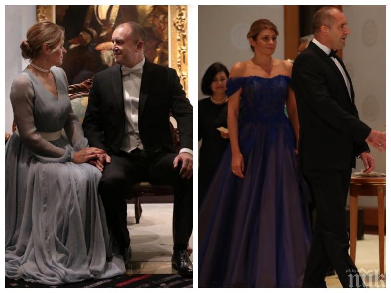 ЛОШ ВКУС! Правителството жъне успехи в Брюксел, а Радев кипри жена си Деси в скъпи рокли за хиляди левове (СНИМКИ)